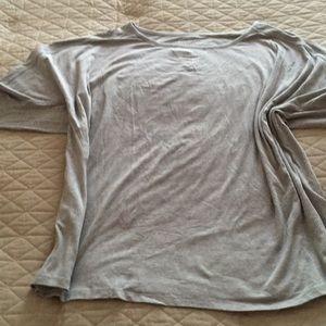 Any Body flowy lounge shirt 2x light grey
